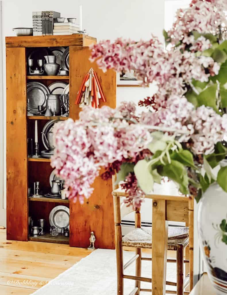 The Color Purple.  Lilacs and Antiques