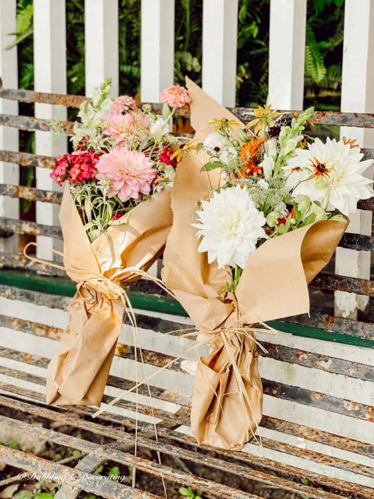 Two flower bouquets