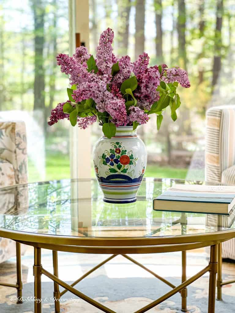 The Color Purple.  Lilacs on the coffee table.