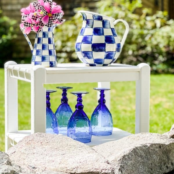 Blue Checkered with MacKenzie-Childs