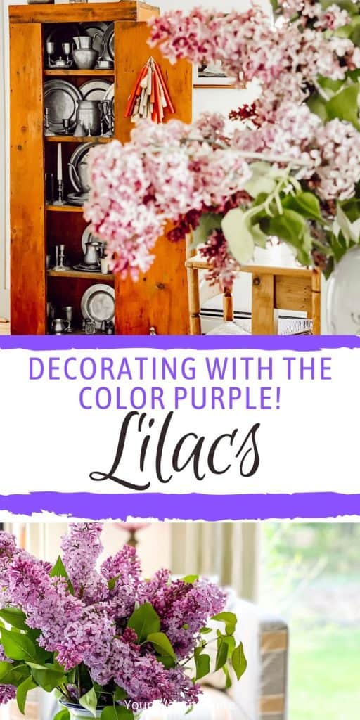 The Color Purple  Decorating with Lilacs.