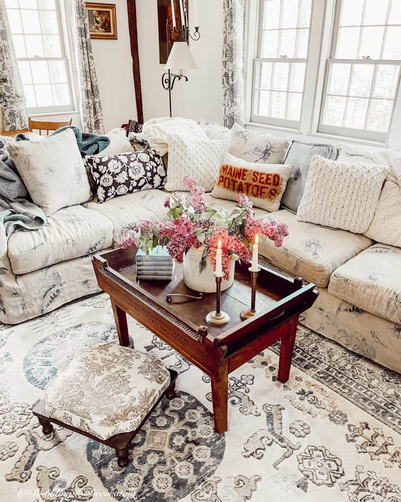 Living Room in New England Colonial House