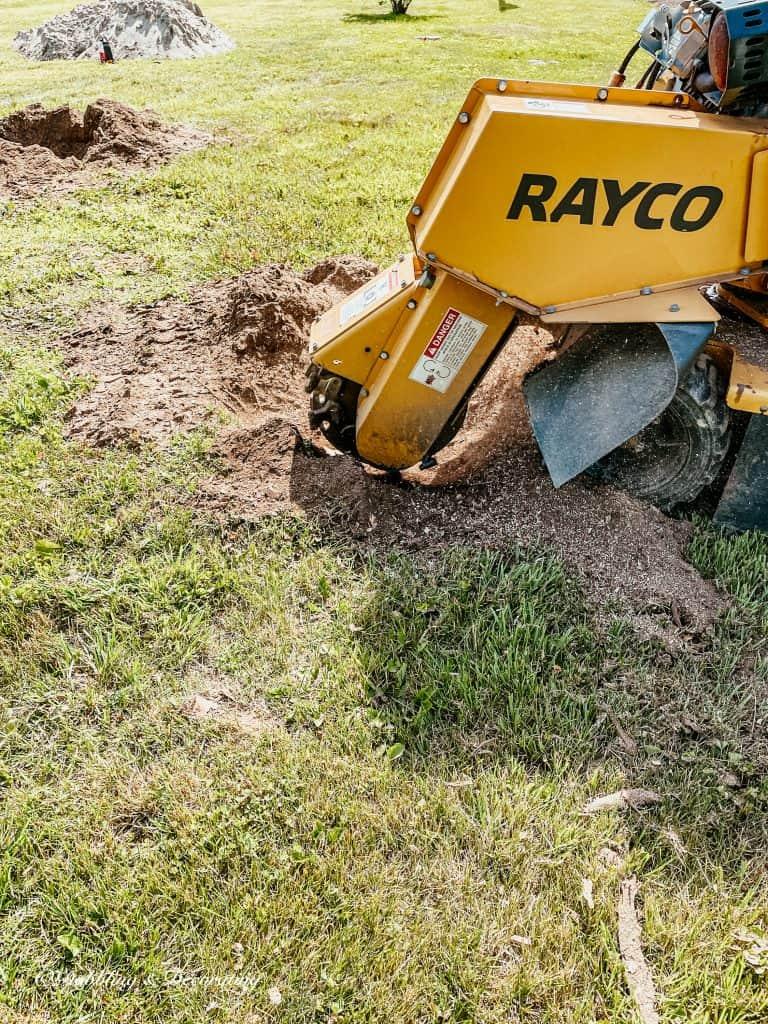 A Rayco Wood Chipper