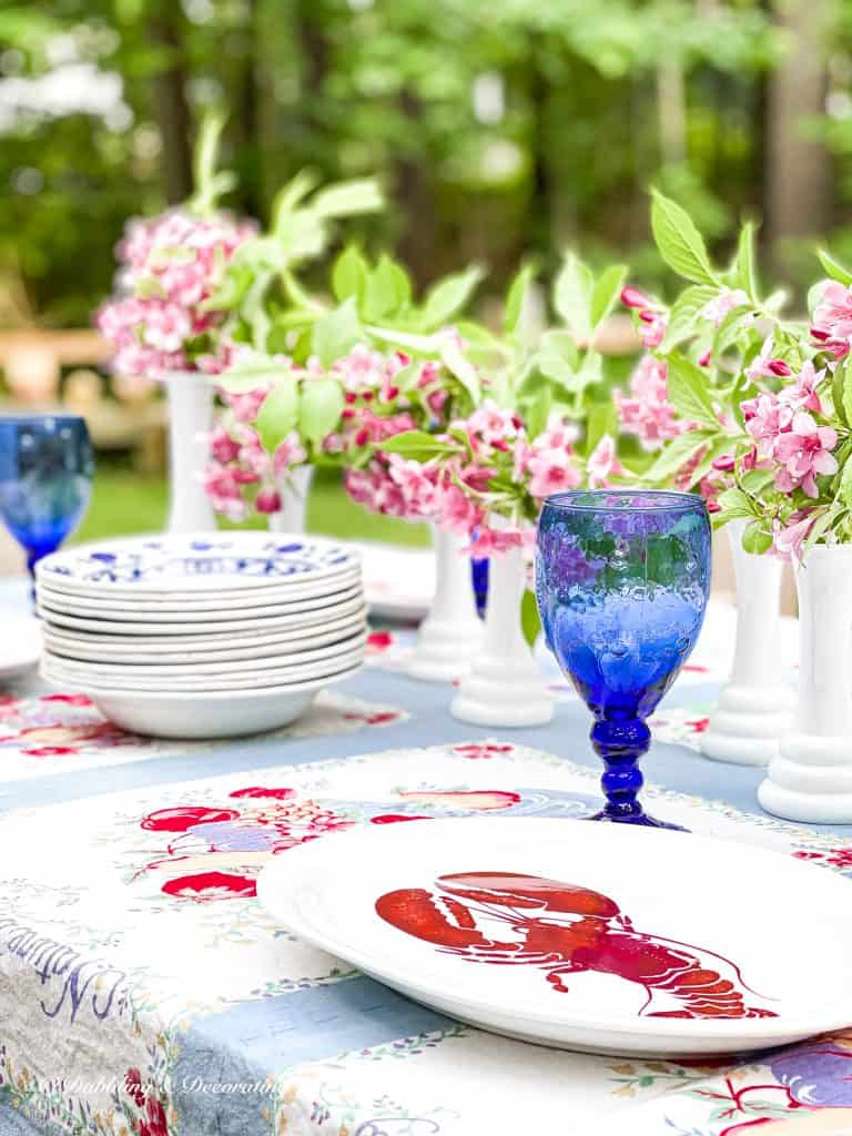 Summer Outdoor Table.  What Does Frugality Mean to You?