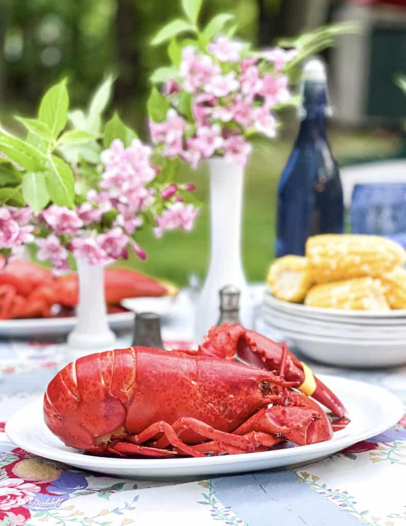What Does Frugality Mean to You?  Outdoor summer lobster table.