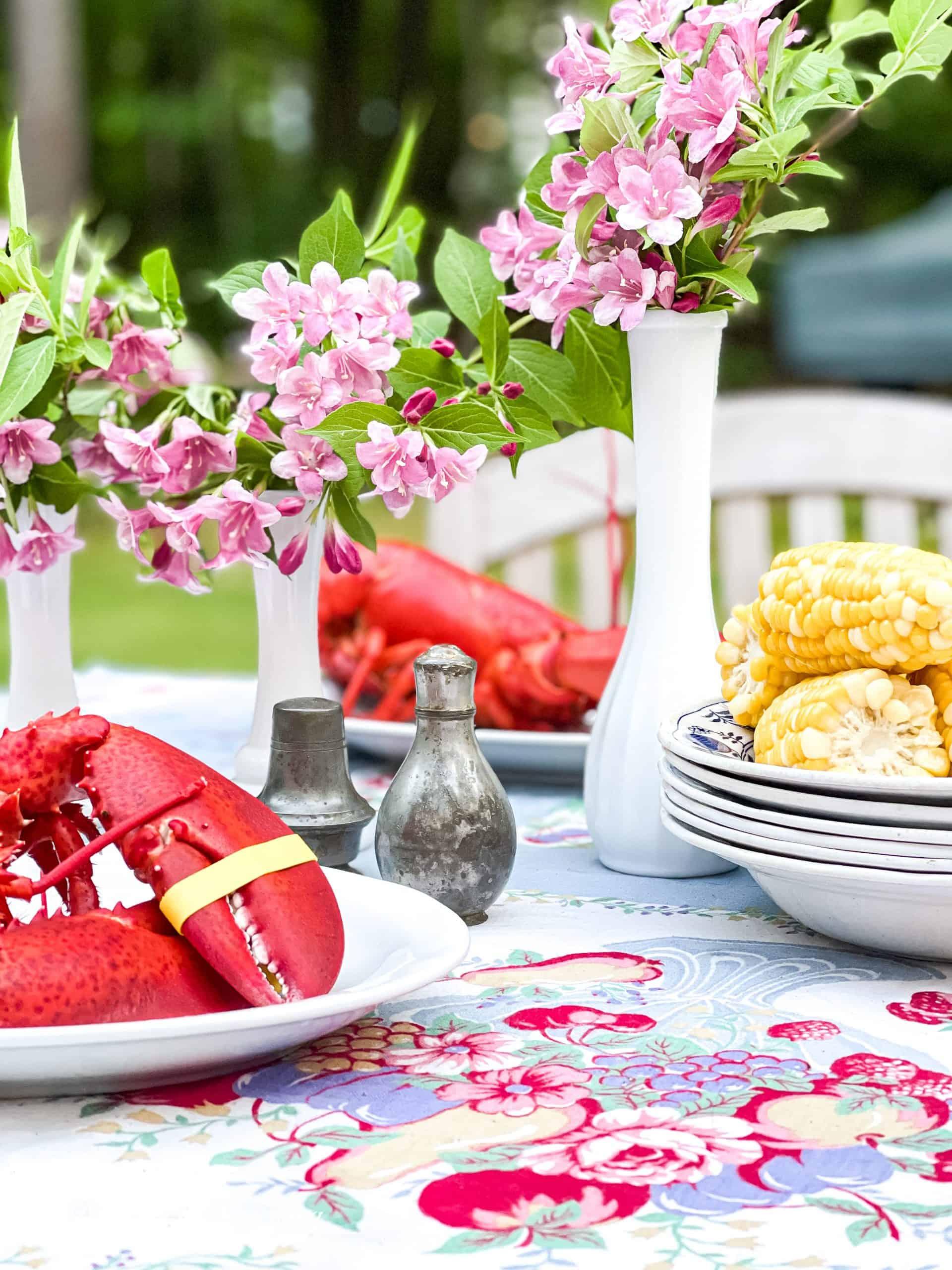 Outdoor Summer Lobster Table