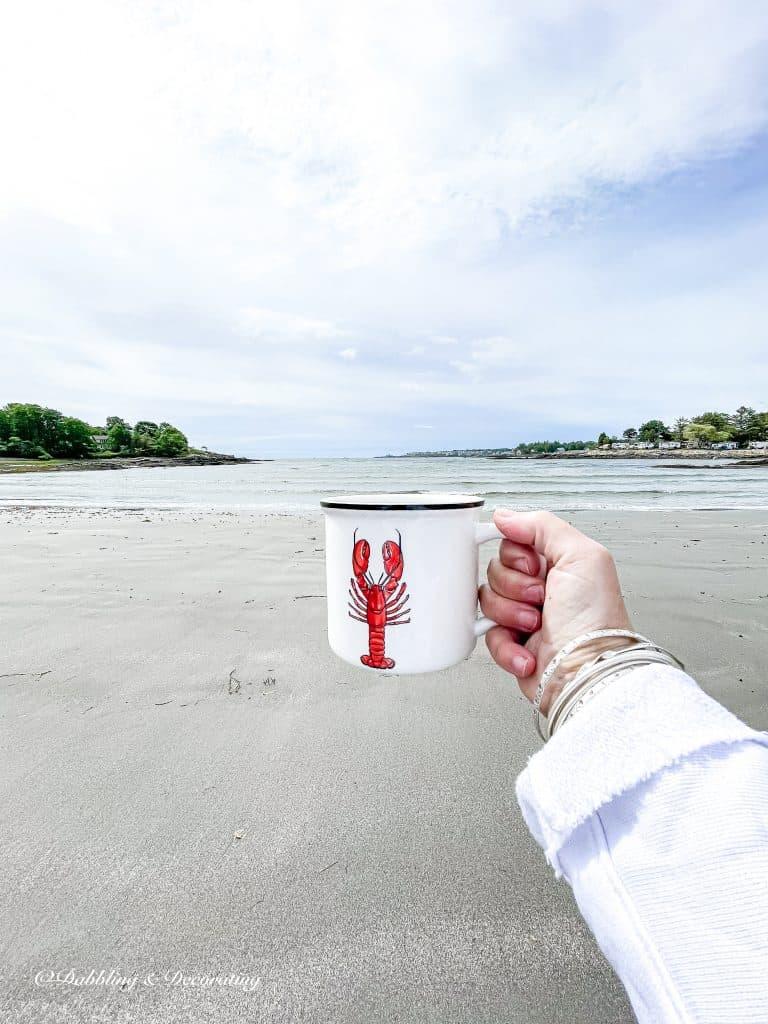 thrifted lobster mug