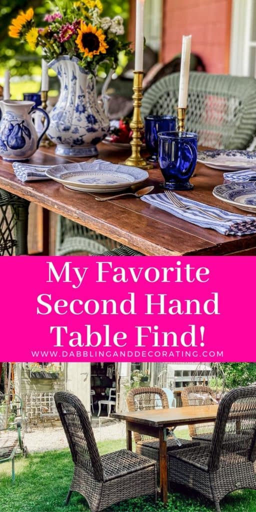 My Favorite Second Hand Table