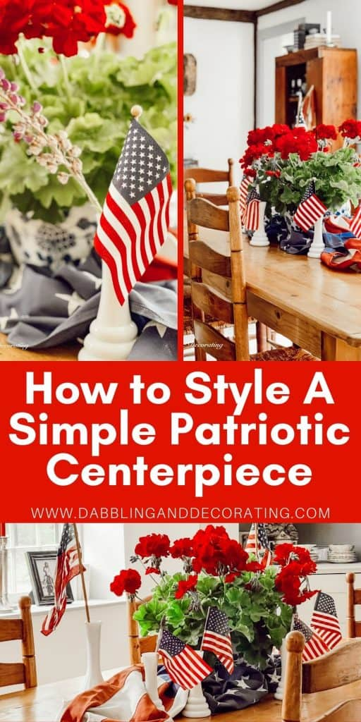 How to Style A Vintage Style Patriotic Centerpiece