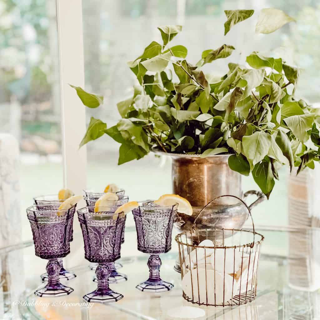 Vintage Amethyst Glassware