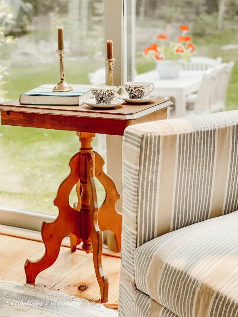 Vintage Wooden Side Table.