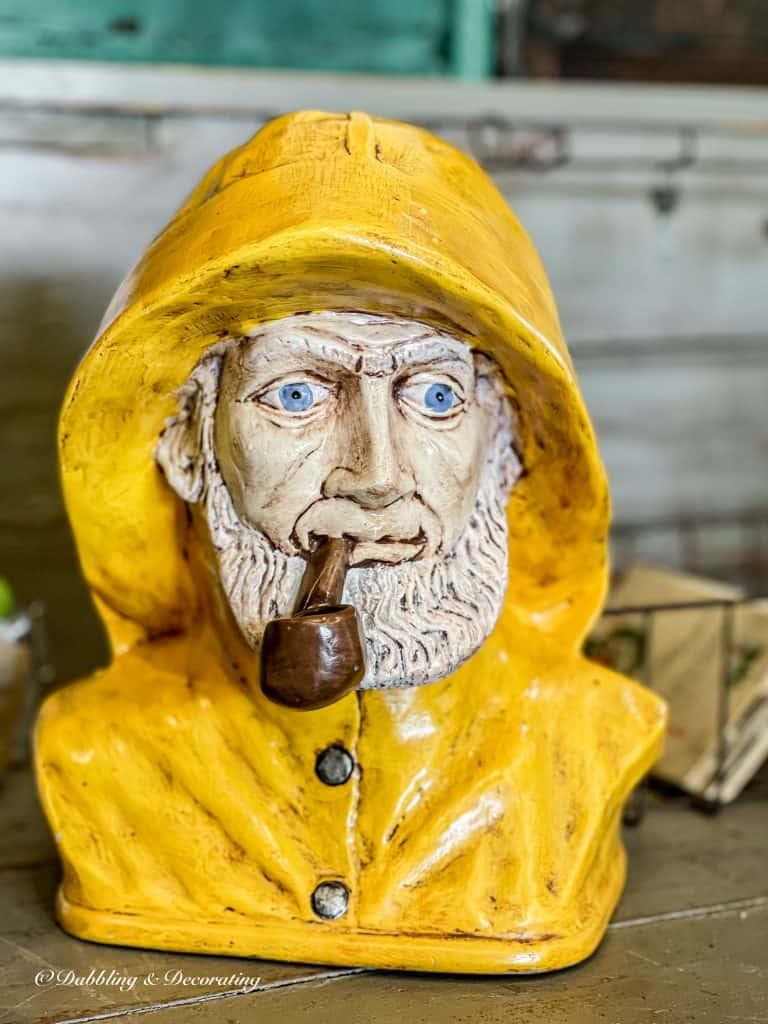 Yellow Nautical Captain Statue
