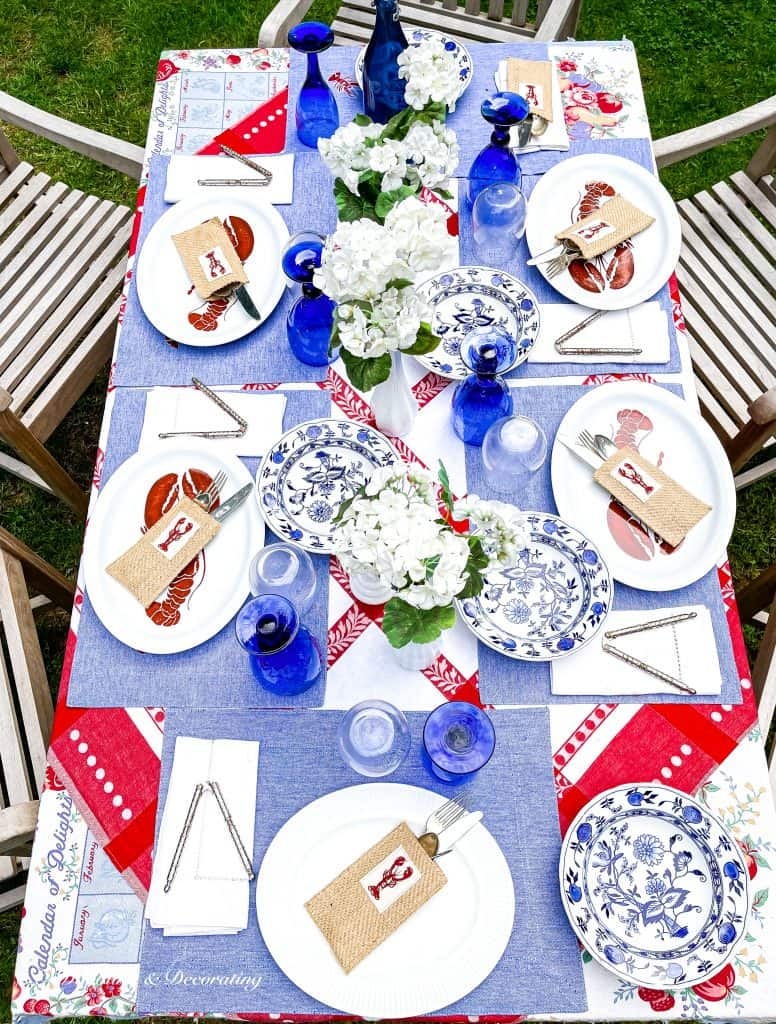 A Quick and Easy Rainy Day Lobster Table Setting