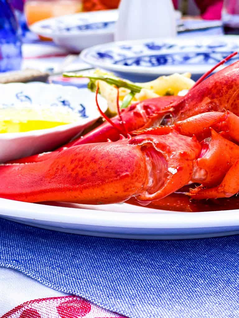 A Quick and Easy Rainy Day Lobster Table setting.