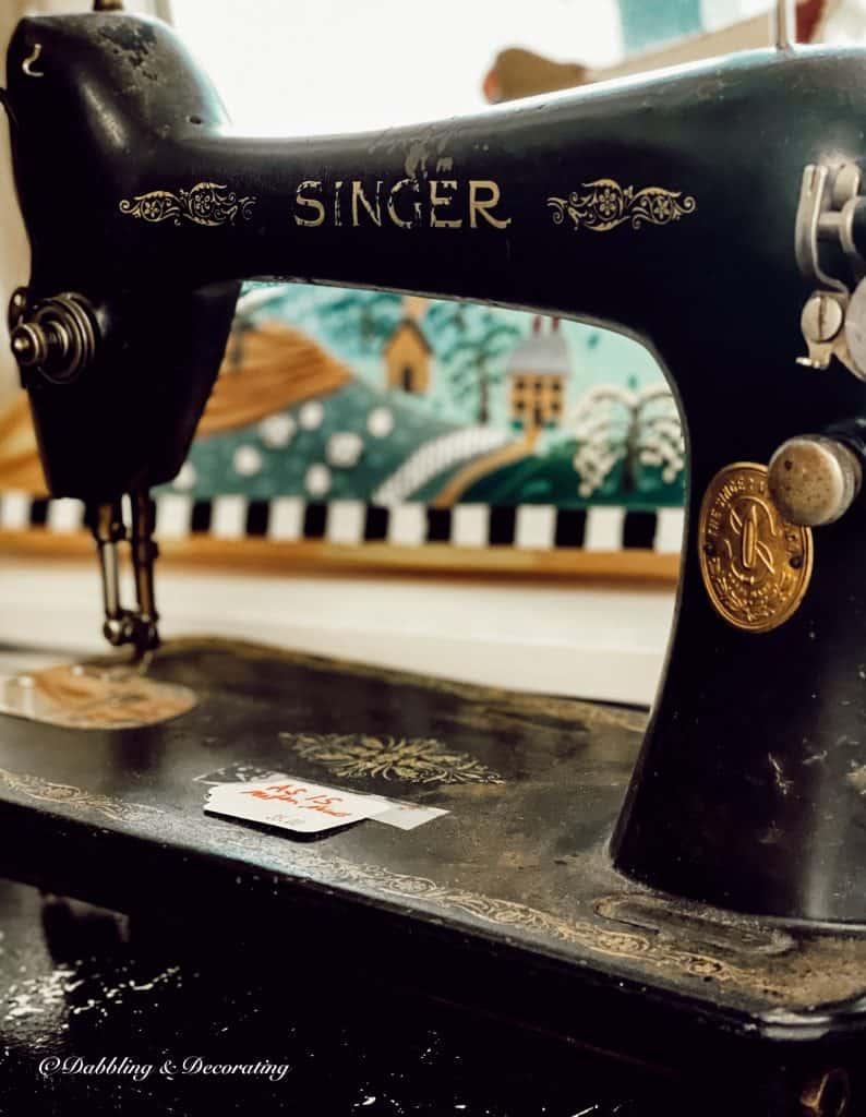 Vintage Sewing Machine Repurposed