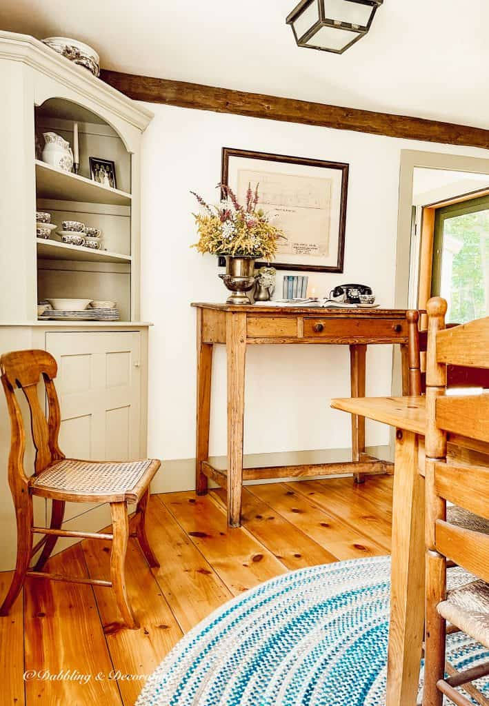 antique desk and chair