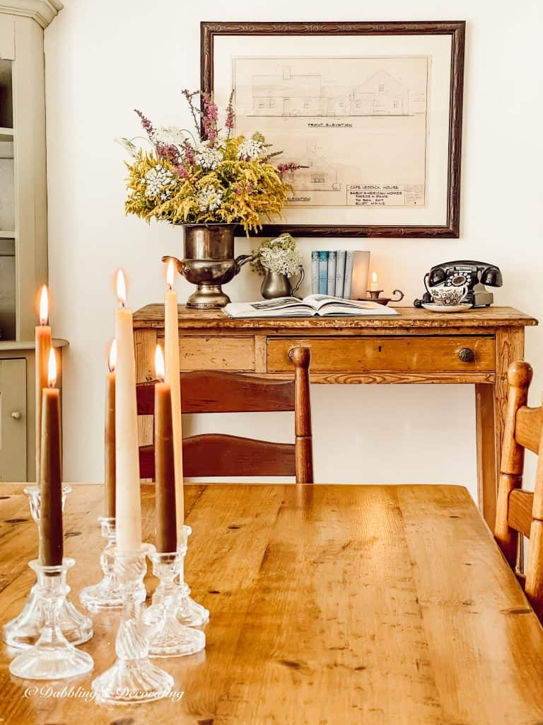 Dining room table and desk