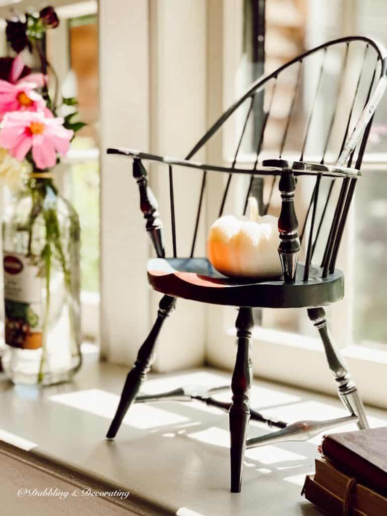 Doll Chair with  Pumpkin