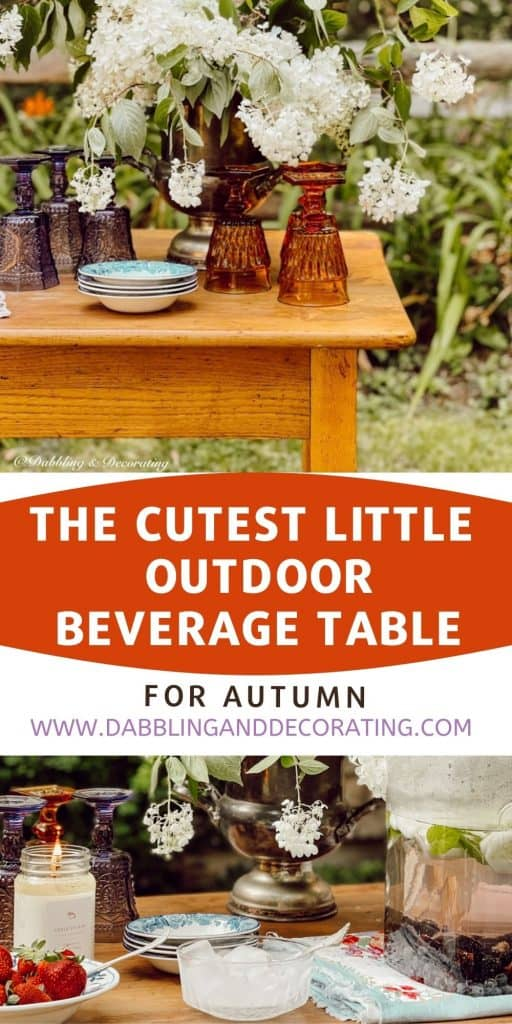 How to add simple charm to any outdoor entertaining space with the cutest little outdoor beverage table that is sure to impress your guests.