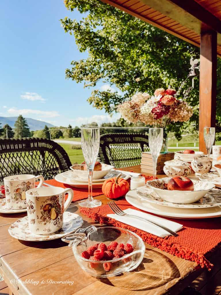 Fall Tablescape in the season for vintage