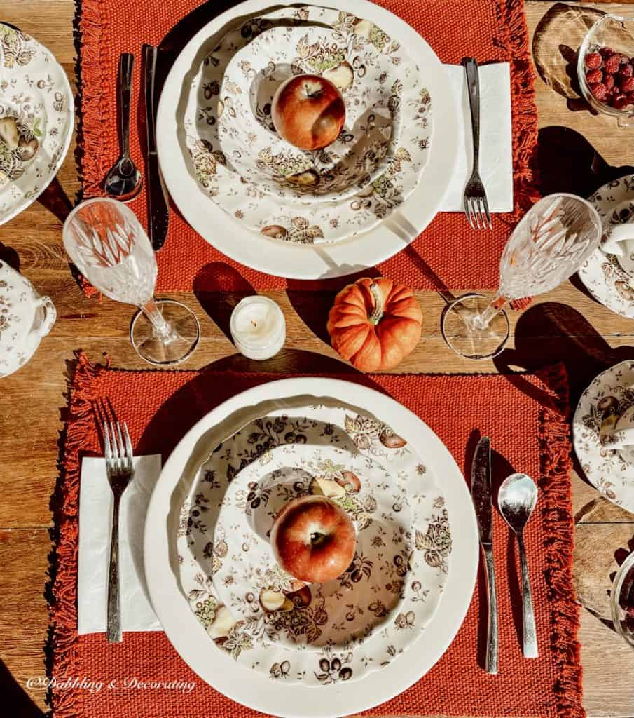 Fall Tablescape in the season for vintage.