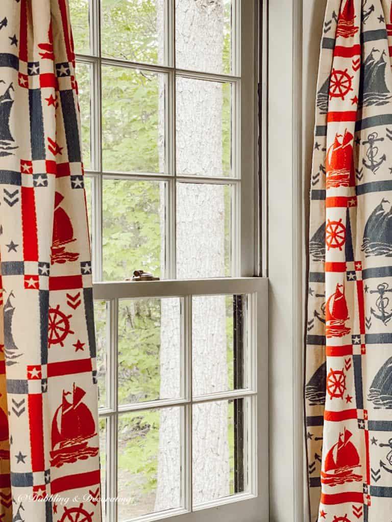 grandmillennial drapes