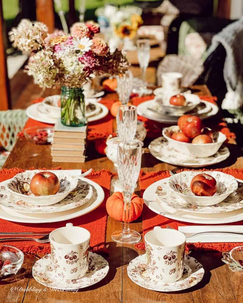 Colorful Fall Tablescape