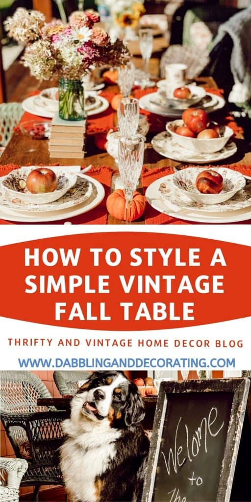 Pin for How to style a simple vintage fall table