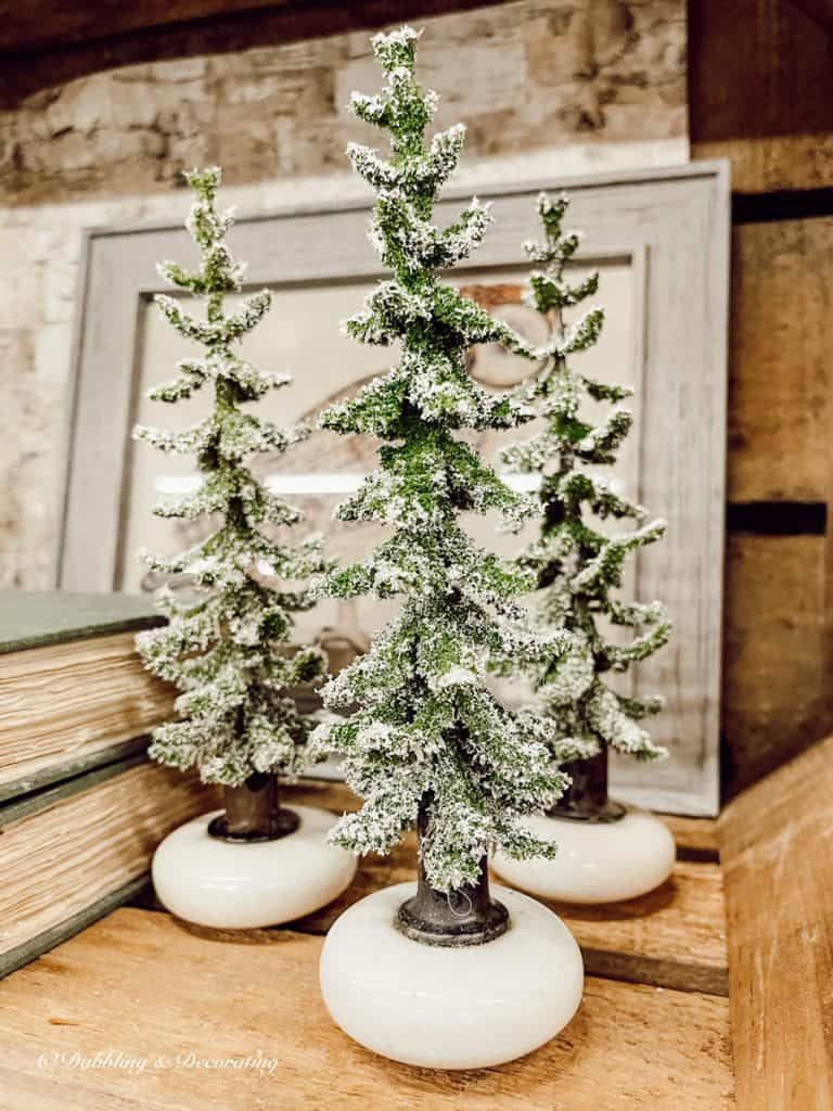 Door Knob Christmas Trees