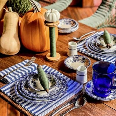 How to Style a Table in October Blue