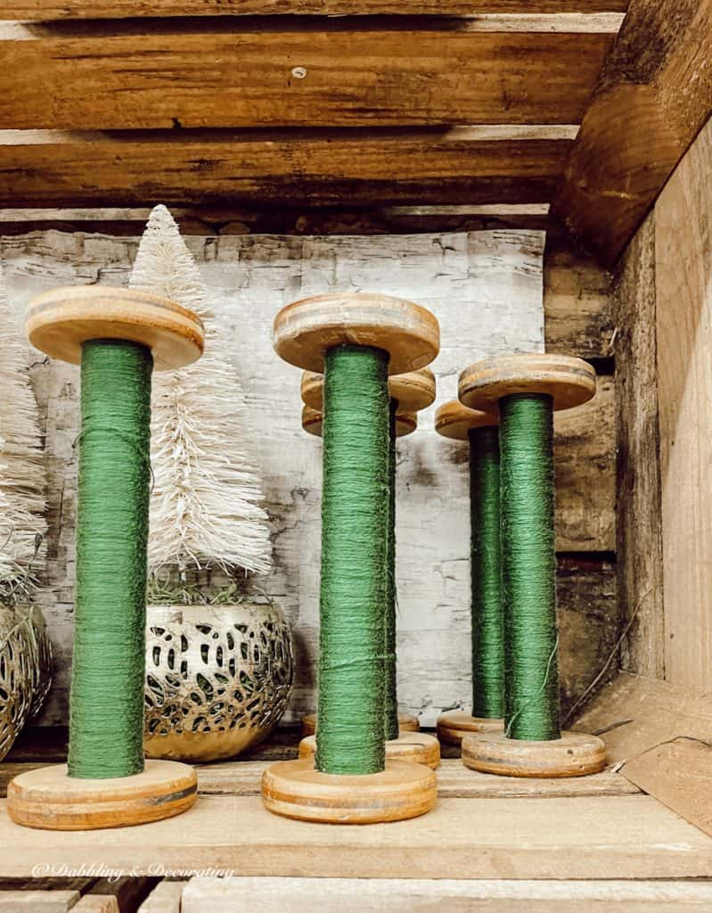 Green Spools of Thread