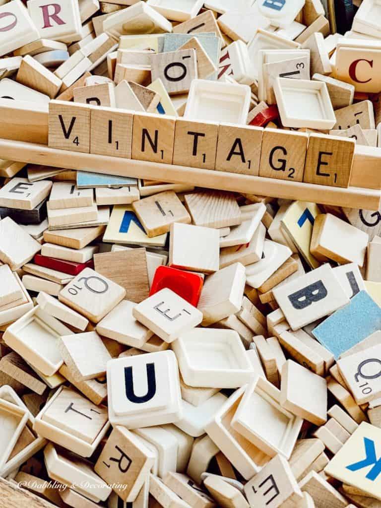 Vintage Scrabble Letters
