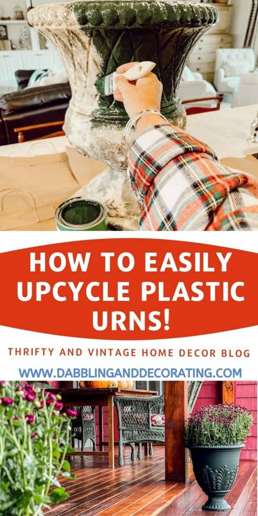 How to Easily Upcycle Plastic Urns